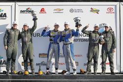 Podium GS: 1. Cameron Cassels, Trent Hindman, Bodymotion Racing; 2. Marc Miller, Till Bechtolsheimer, CJ Wilson Racing; 3. Russel Ward, Damien Faulkner, CJ Wilson Racing