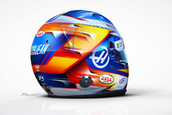 Il casco di Romain Grosjean, Haas F1 Team