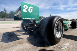 Paul Tracy smoking the tires