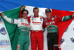Conferencia de presna de pilotos mexicanos: Mario Domínguez, Michel Jourdain Jr. and Adrián Fernández