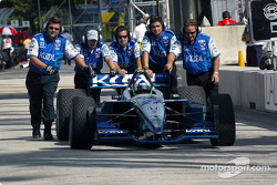 Dario Franchitti back in the pits