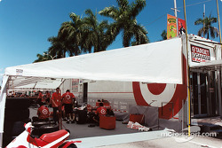 Target service area under the palm trees