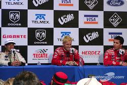 Conferencia de prensa: ganador de la carrera Kenny Brack, Cristiano da Matta y Bruno Junqueira