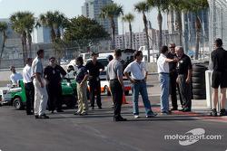 Drivers meeting at turn 12