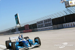 Paul Tracy takes the checkered flag