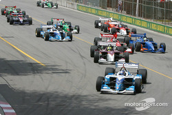 The start: Paul Tracy takes the lead