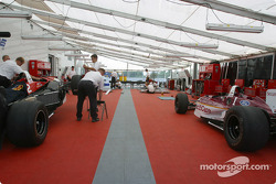 Newman/Haas Racing paddock area