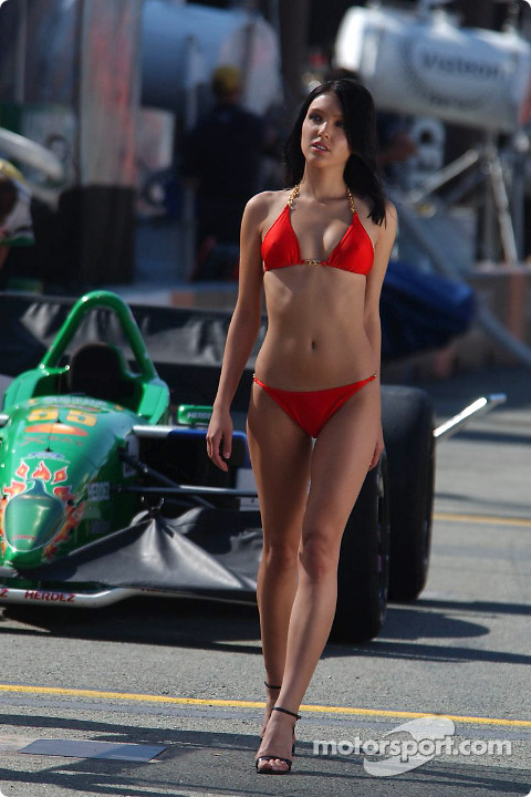 Motor racing girls tight thong leggings - 2 6