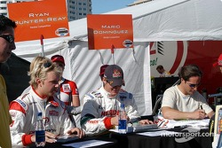Ryan Dalziel, Ryan Hunter-Reay and Mario Dominguez