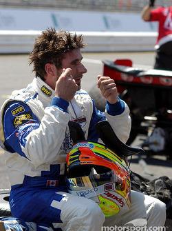 Alex Tagliani after a hot afternoon