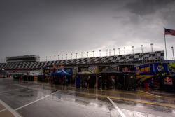 Rain over the garage area