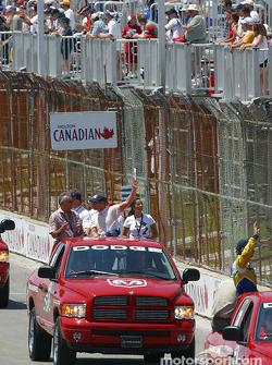 Drivers parade: Mario Haberfeld