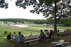 Road America fans watch the track action