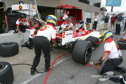 Pitstop practice at Newman/Hass Racing