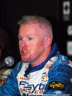 A delighted Paul Tracy at the press conference