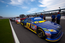 Car of Geoffrey Bodine, Tommy Baldwin Racing Chevrolet, first on qualifying line