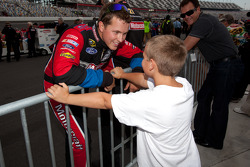 Trevor Bayne, Wood Brothers Racing Ford with a young friend