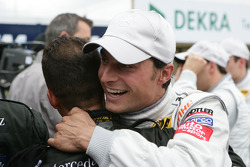Bruno Spengler, Team HWA AMG Mercedes, AMG Mercedes C-Klasse celebrate his Poleposition