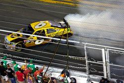 Race winner David Ragan, Roush Fenway Racing Ford celebrates