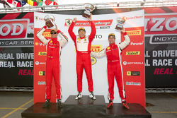 458 podium: class and race winner #77 Ferrari of Silicon Valley Ferrari 458 Challenge: Harry Cheung, second place #20 Ferrari of Houston Ferrari 458 Challenge: Cooper MacNeil, third place #27 Ferrari of Houston Ferrari 458 Challenge: Mark McKenzie