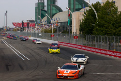 #77 Ferrari of Silicon Valley Ferrari 458 Challenge: Harry Cheung leads the field on pace laps
