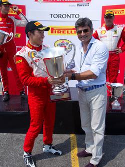458 podium: race winner #77 Ferrari of Silicon Valley Ferrari 458 Challenge: Harry Cheung