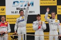 Edoardo Mortara, , Audi Sport Team Rosberg, Audi A4 DTM 2008; BBruno Spengler, HWA AG, Mercedes AMG C-Klasse 2009; Renger van der Zande, Persson Motorsport, AMG Mercedes C-Klasse 2008; Christian Vietoris, Persson Motorsport, AMG Mercedes C-Klasse 2008