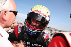 Race winners Michael Krumm, Lucas Luhr celebrate