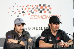 James Hinchcliffe, Newman/Haas Racing and Dario Franchitti, Target Chip Ganassi Racing
