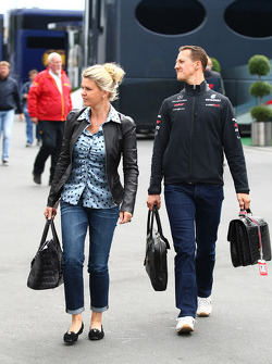Michael Schumacher, Mercedes GP F1 Team and Corina Schumacher, Corinna, Wife of Michael Schumacher