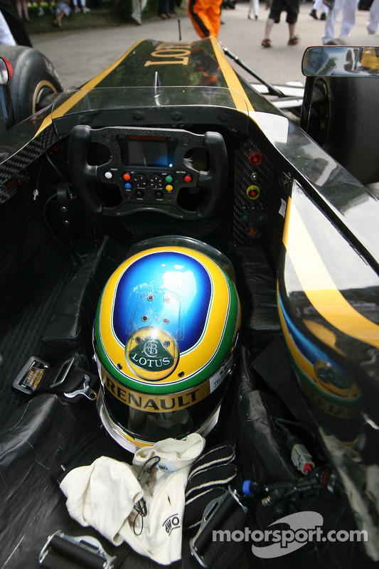 Bruno Senna's crash helmet at Goodwood Festival of Speed