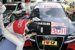 Race winner Mattias Ekström, Audi Sport Team Abt celebrates