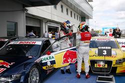 Race winner Mattias Ekström, Audi Sport Team Abt