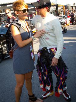 Alex Tagliani, Penske Racing Dodge with wife Bronte