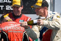 DP podium: champagne for David Donohue