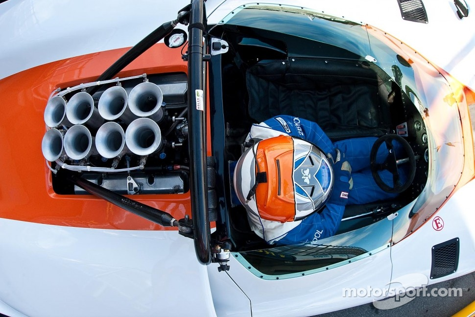 View over a Can-Am car