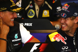 Press conference: Michael Schumacher, Mercedes GP and Sebastian Vettel, Red Bull Racing