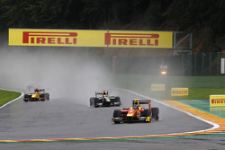 Christian Vietoris leads Jules Bianchi;Romain Grosjean