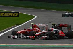 Felipe Massa, Scuderia Ferrari and Jenson Button, McLaren Mercedes