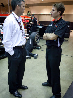 Chief Executive Officer of IndyCar Randy Bernard and Will Power, Team Penske