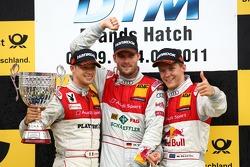 Martin Tomczyk, Audi Sport Team Phoenix with Mattias Ekström, Audi Sport Team Abt and Edoardo Mortara, Audi Sport Team Rosberg
