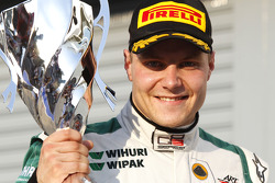 Valtteri Bottas celebrates winning the race and the drivers championship