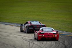 #28 Ferrari of Beverly Hills Ferrari F430 Challenge: Jon Becker, #007 Ferrari of Ontario Ferrari 458 Challenge: Robert Herjavec