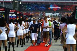 Rubens Barrichello, Williams F1 Team and Paul di Resta, Force India F1 Team