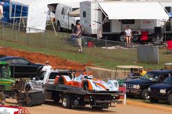 #15 Oak Racing Oak Pescarolo Judd on platform truck