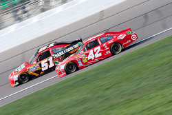 Landon Cassill, Chevrolet and Juan Pablo Montoya, Earnhardt Ganassi Racing Chevrolet