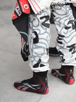 Lewis Hamilton, McLaren Mercedes boots