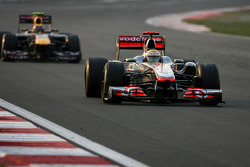 Lewis Hamilton, McLaren Mercedes and Mark Webber, Red Bull Racing
