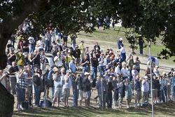 Fans at the Corkscrew
