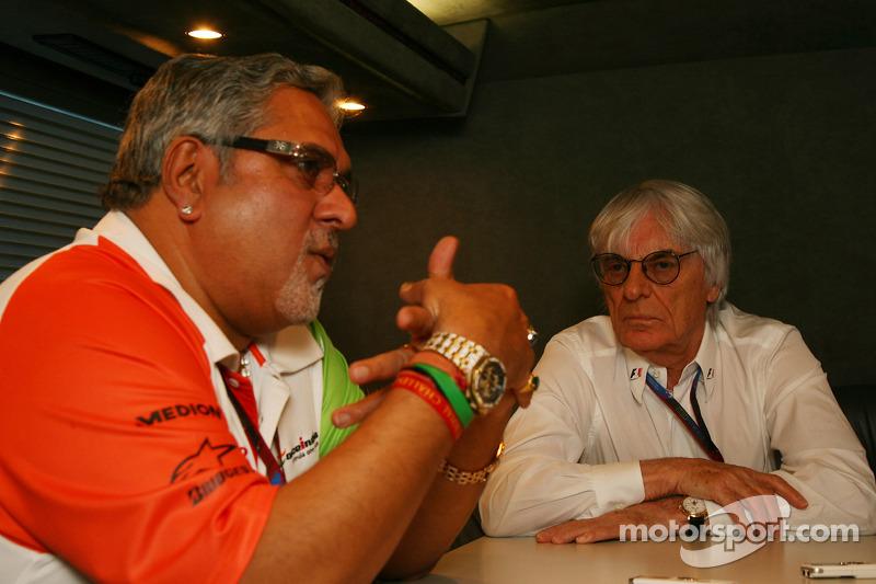 Bernie Ecclestone and Vijay Mallya Force India F1 Team Owner interview
